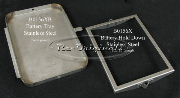 Battery tray in stainless steel.  Fits all Giulietta and most 105 cars. - B0156XB