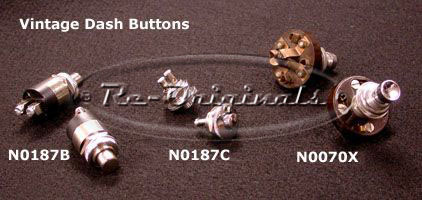 Starter button, remote.  The button is 9mm in diameter with finishing trim ring at 20mm in diameter. - N0187C