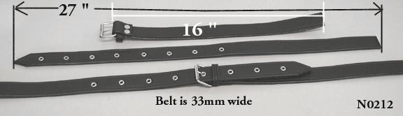 Luggage straps, made in Italy. Vintage buckle and... - N0212