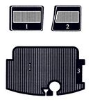 Mats, complete set, two front mats and trunk mat. - 10030000
