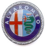 Emblem for front grille or trunk, Alfa Romeo, without Milano, plastic\n - B0022XB