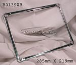 License plate frame, European, rear, Italian style, stainless steel, for cars from 1947-1972 - B0139XB
