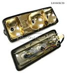 Taillight assembly, NOS, Carello, amber/red/white, right side.  For 1750 Berlina, Jr.  Zagato. - L0104XCD