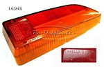 Taillight lens, Carello, NOS, #12.632.717 on right side lens, red on top/ amber on bottom - L0284X