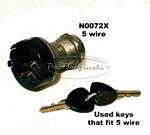 Ignition switch, turn key & push style, NOS, requires 27mm hole in dash, 5 contacts, CEAM #90034 - N0072X