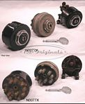 Ignition switch, SIPEA, NOS, old style using nail type key, OFF plus 2 positions - N0077X