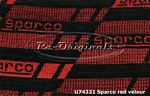 Fabric, SPARCO, red and blue. - U74321